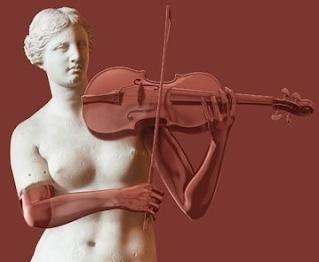 Venus with violin